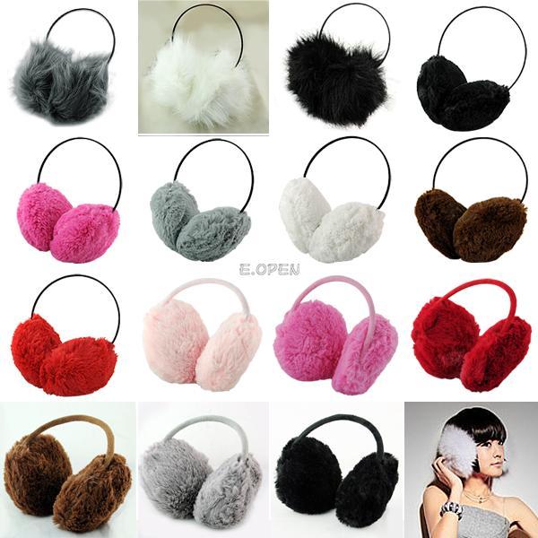 Winter-Puffy-Fluffy-Cute-Women-Earmuffs-Earflap-Earcap-Earlap-Ear-Muffs-Cover