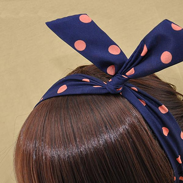 Korean Trendy Cute Rabbit Ear Hair Ribbon Wire Tie Ponytail Headband Hairband Ebay