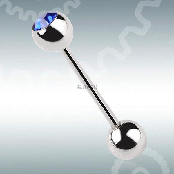 LIGHT SINGLE RHINESTONE BELLY BAR BUTTON RING FASHION WOMEN NAVEL STUD BARBELL