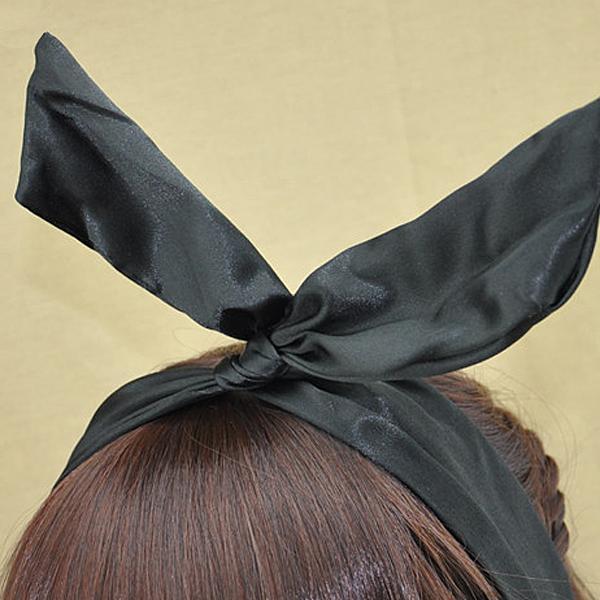 Cute DIY Accessory Flower Chiffon Bunny Rabbit Ear Hairband Headband Hair Band