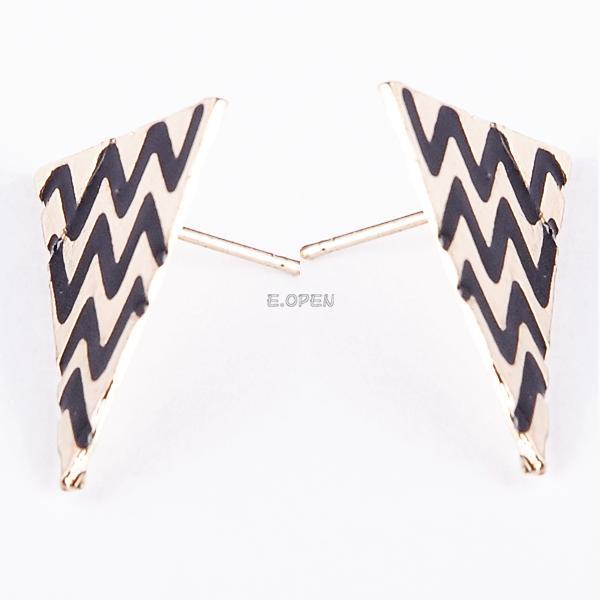 new fashion punk vintage cute enamel geometric triangle dangle ear stud earrings