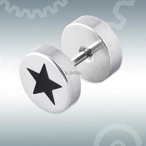 unisex titanium steel hoop ear labret nose lip