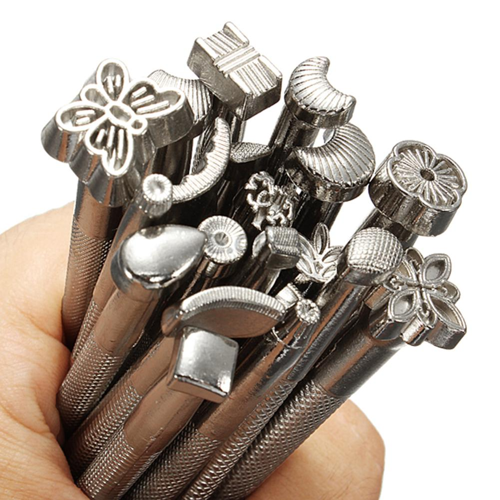 LEATHER TOOLS WORKING SADDLE MAKING SET CARVING CRAFT STAMPS CARVING PUNCH DIY