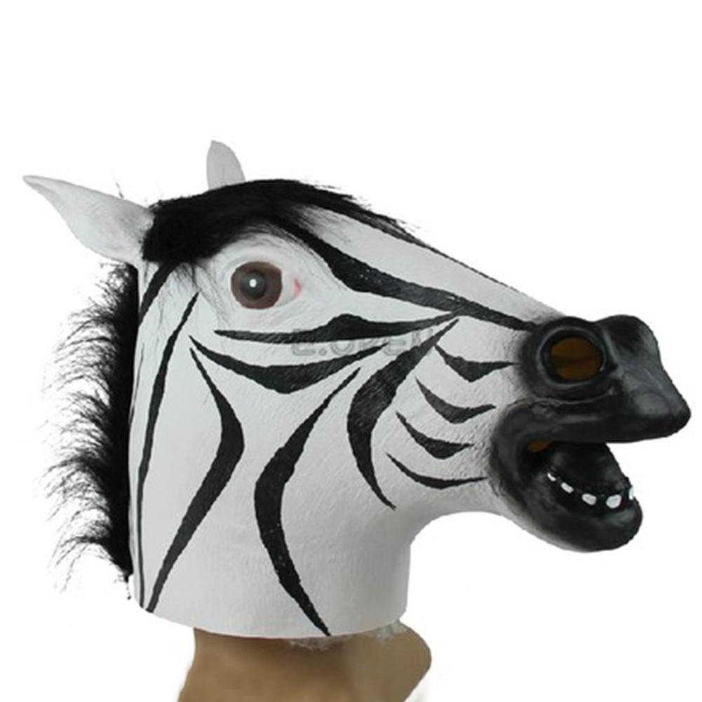 VOGUE HALLOWEEN UNICORN HORSE ZEBRA WOLF HEAD COSPLAY PARTY PROP ...