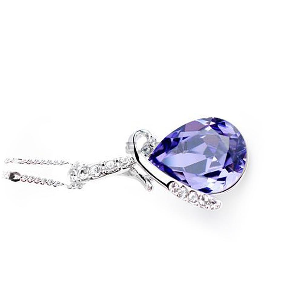 fashion chain crystal rhinestone necklace pendant lady women jewelry accessory