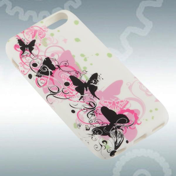 colourful soft rubber gel tpu flower case cover for apple iphone 5c snap on