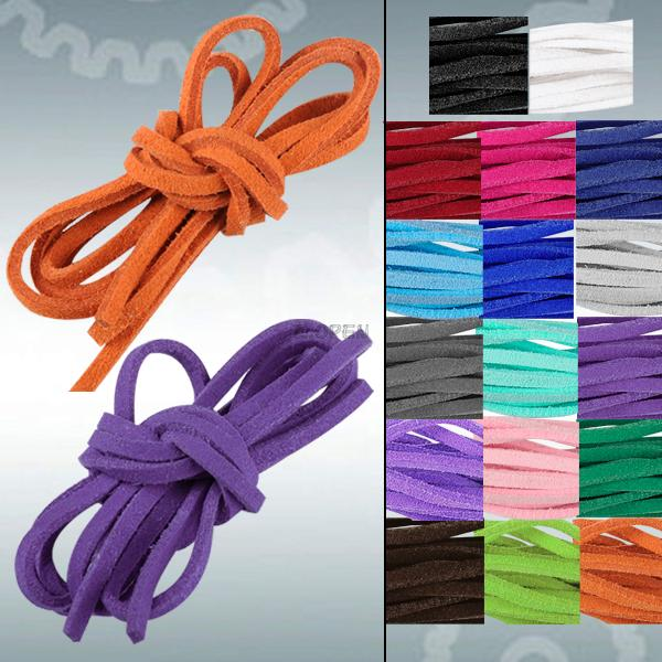 Faux Suede Leather Cord Rope Strap String Cord For Necklace Bracelet Craft DIY