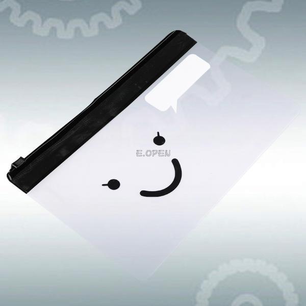 cartoon chick mustache clear pvc pen pouch bag cute smile pencil case pen bag