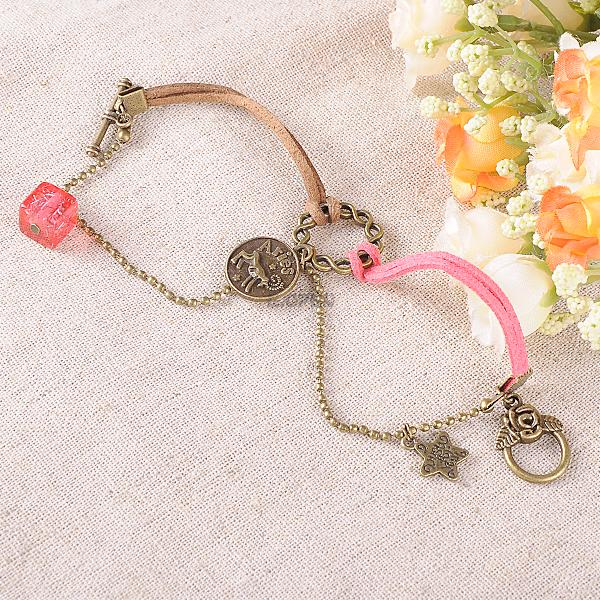 Leo Virgo Libra Scorpio Bracelet Fashion Constellation Leather Hand Chain Bangle
