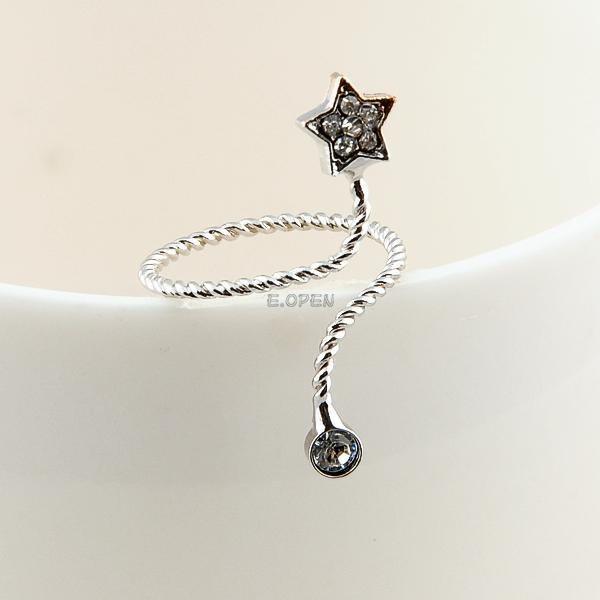 cute butterfly snake starfish twisted above knuckle band mid finger nail ring