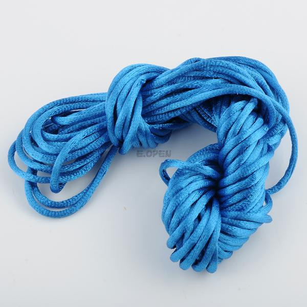 10M NYLON CHINESE KNOT BEADING JEWELRY CORDS THREAD 2.5MM DIAMETER COLORFUL