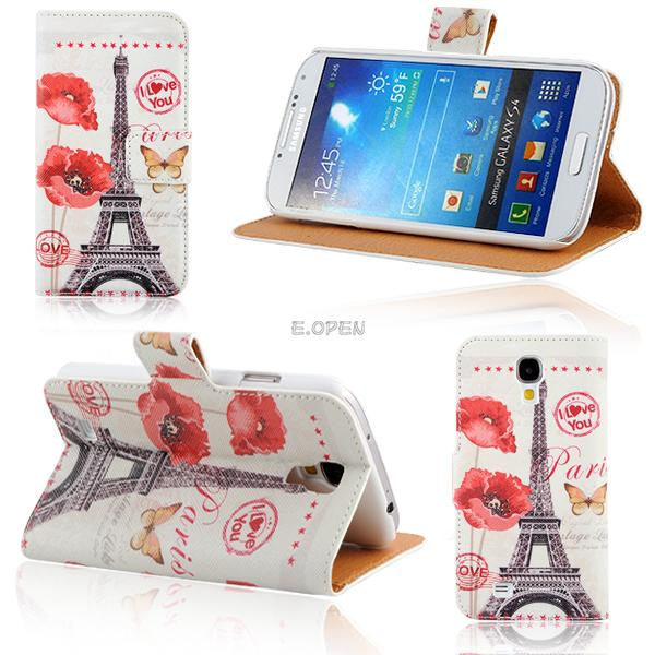 For Samsung Galaxy S4 i9500 Wallet Card Holder Magnetic Leather Flip Case Cover