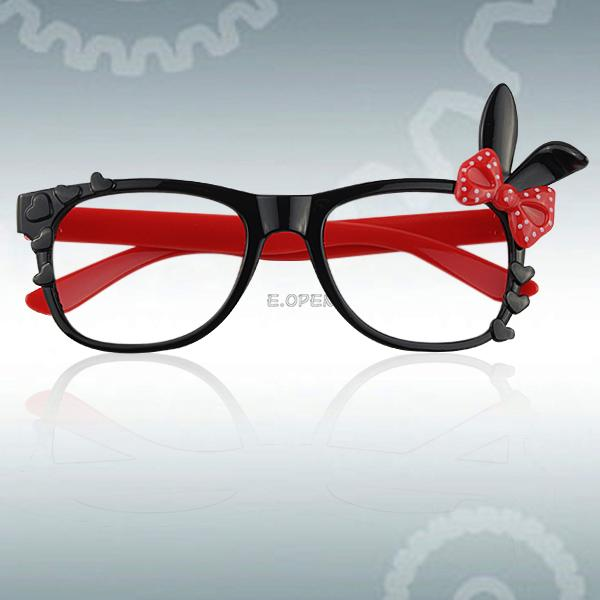 Glasses Frame Hurt Ears : For Children Kids Baby Cute Bunny Ears Glasses Spectacle ...