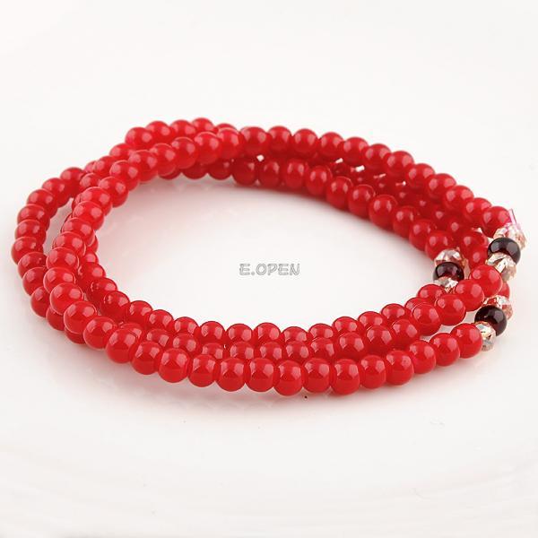 Bohemia Style Handmade Elasticity Bead Bracelet Multi Color Stone Hand Chain