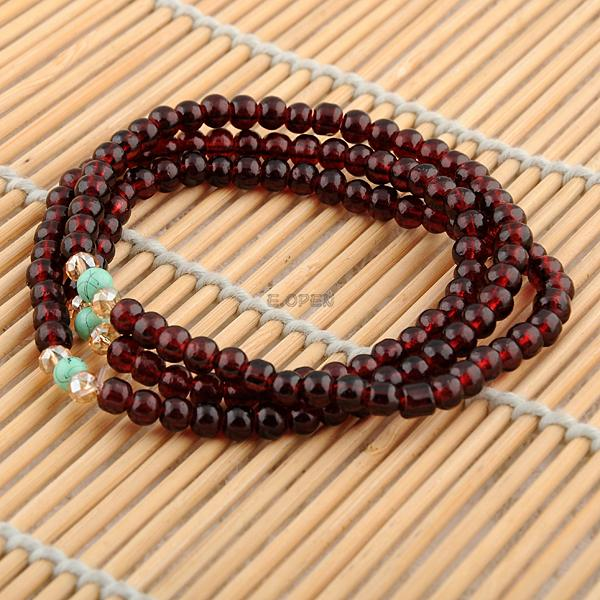 fashion bohemia style multilayer stone beaded multi color elasticity bracelet