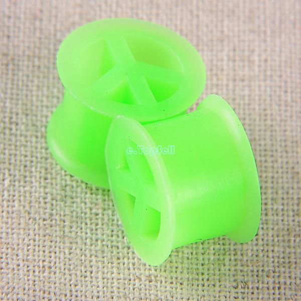 Pair-Solid-Acrylic-Silicone-Tunnels-Ear-Expander-Plugs-Stretch-Gauges-Punk