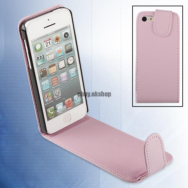 For iPhone 5C Vertical Flip Magnetic Faux Leather Pouch Cover Wallet Case
