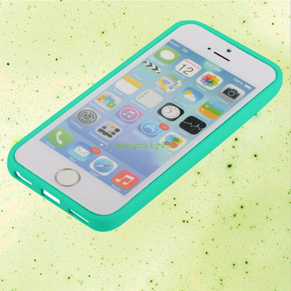 Cover Shell Rubber Frame Plastic Hard Back Skin Case For Apple iPhone 4S 5 5S 5C