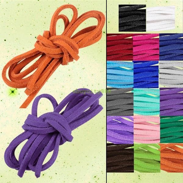 Bracelet-Craft-Faux-Suede-Cord-Strap-Lace-Leather-Flat-Cord-DIY-Rope-String
