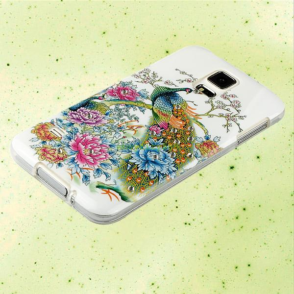 Peacock Style Soft Gel TPU Silicone Case Cover Skin For Samsung Galaxy S3 S5