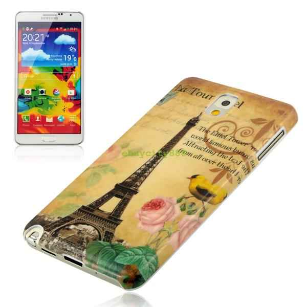 For Samsung Galaxy Note 3 N9000 Plastic Case Colorful Pattern Case Cover Skin