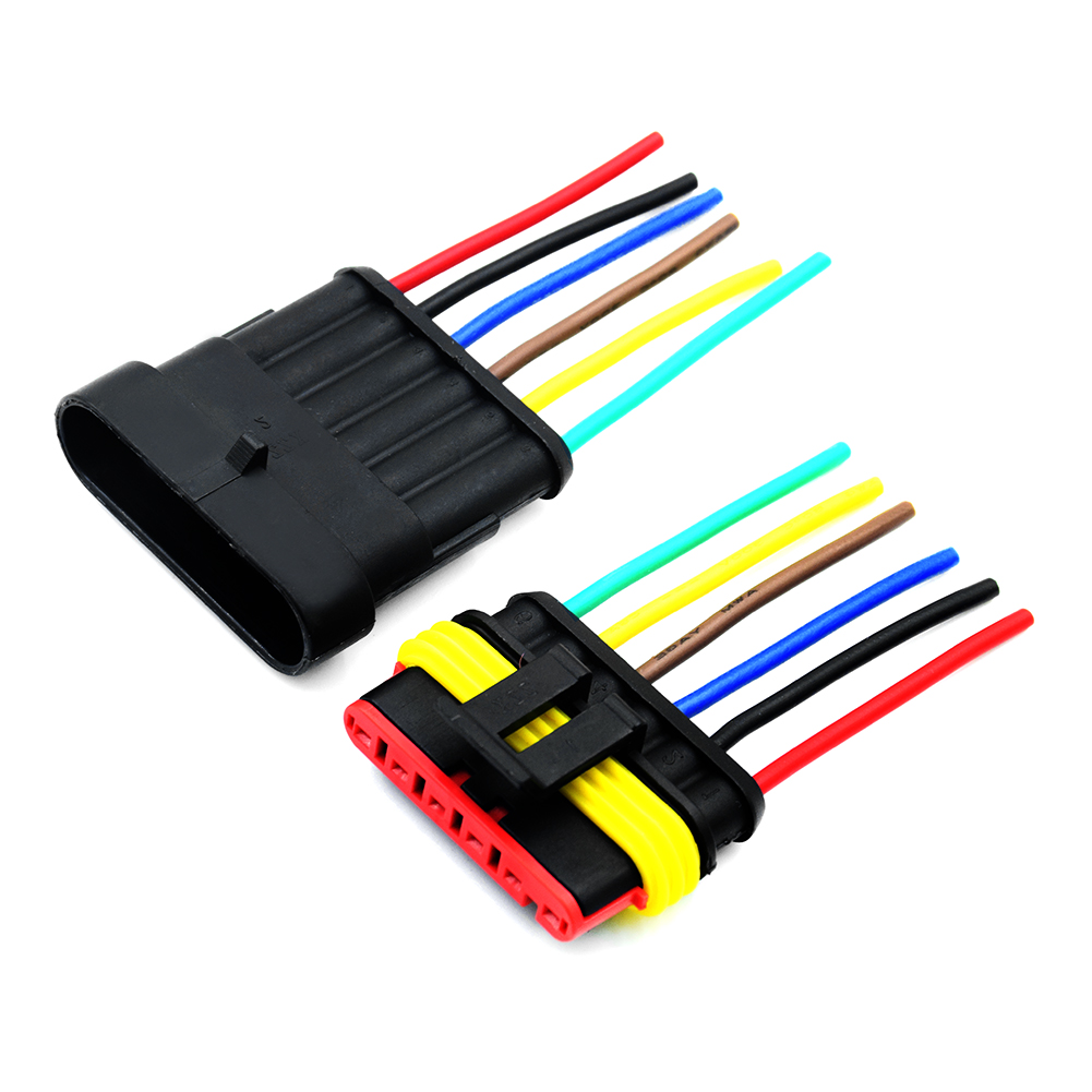 Car Waterproof Electrical Connector Plug 18 Awg With 6cm Wire 24mm Marine Ebay