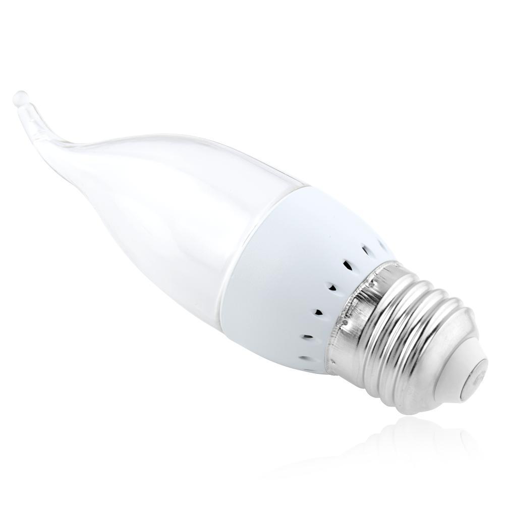 High Power E27 E14 B22 B15 Base 3W LED Candle Light Bulb White Lamp AC 110/220V
