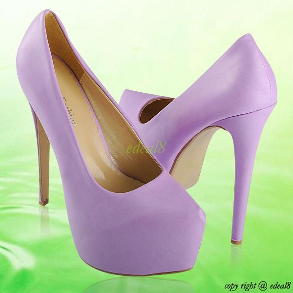 womens imitation suede high stiletto heels platform party pumps ...