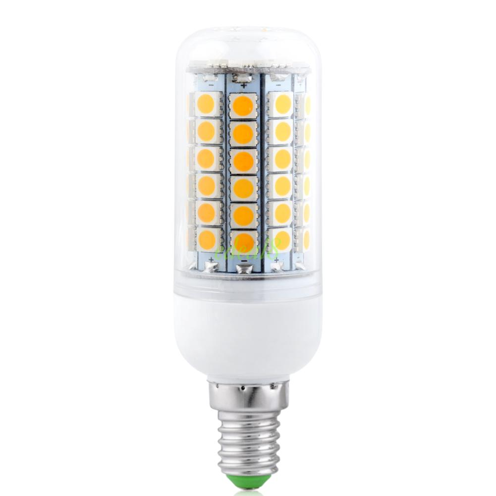 Warm Cool White 5050 Smd Led Lamp Corn Bulb Green Light