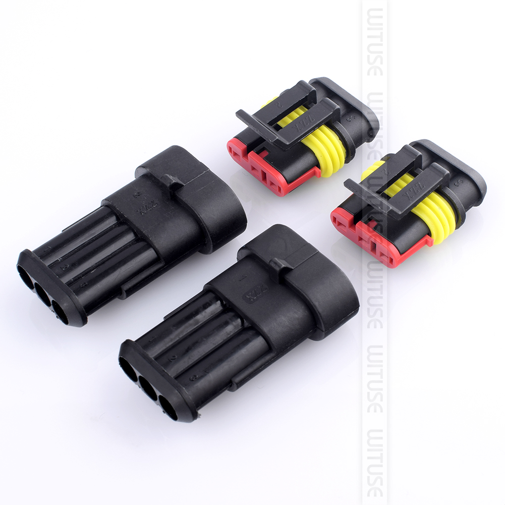 10 sets superseal 3 pin way waterproof electrical wire truck rh ebay com