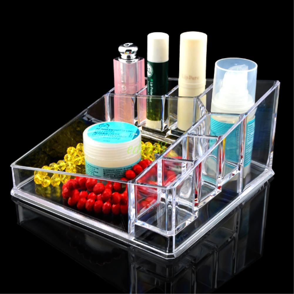 Clear Makeup Case Drawers Cosmetic Organizer Jewelry Storage Acrylic Cabinet Box