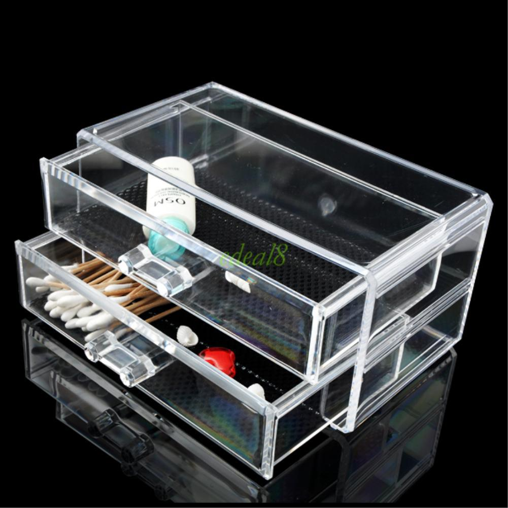 Acrylic Makeup Box Cosmetic Organizer Drawer Holder Clear Storage Case Jewelry | eBay