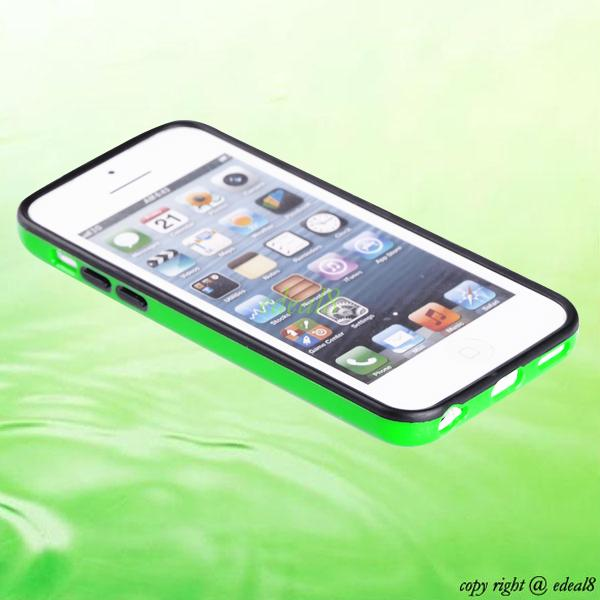 Rubber Gel TPU Cover Frame Bumper Case For Apple iPhone 5 5S Sth Gen 5C 4 4G 4S