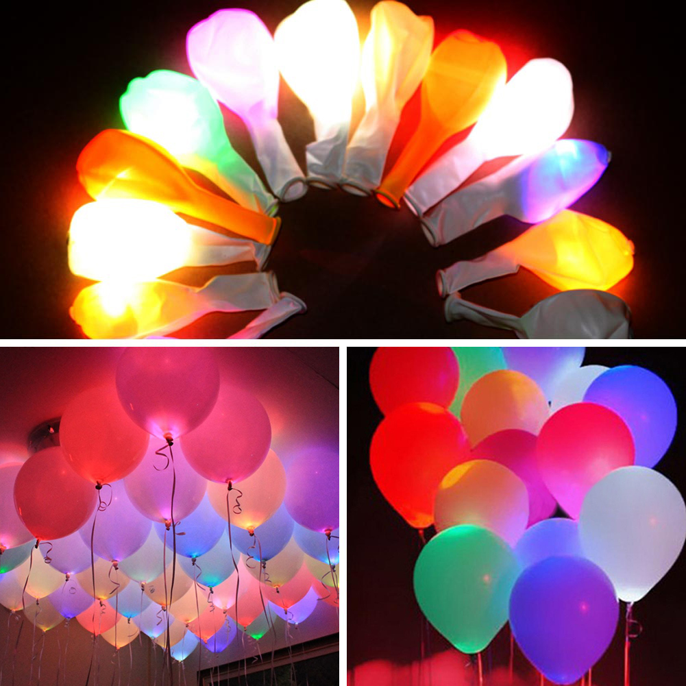 Led balloon lamps lights table centerpiece wedding