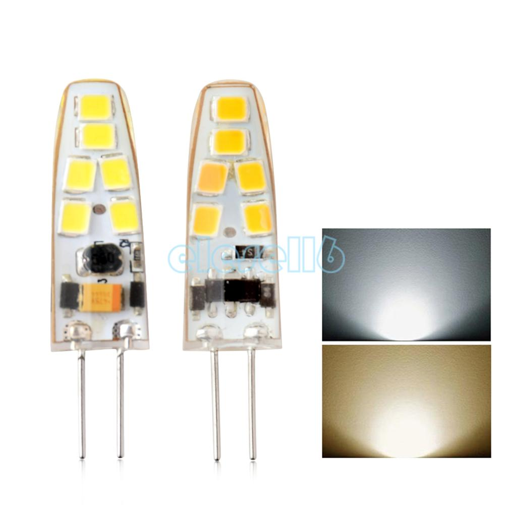 2w led crystal lamp light silicone bulbs 12v ac dc bright low heat. Black Bedroom Furniture Sets. Home Design Ideas