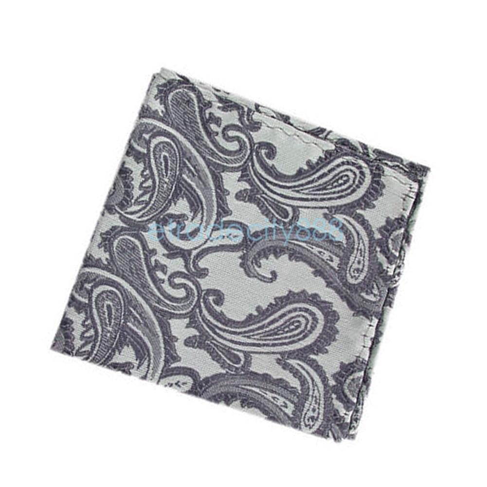 Men's Hanky Handkerchief Jacquard Silk Woven Pocket Square Formal Wedding Ball