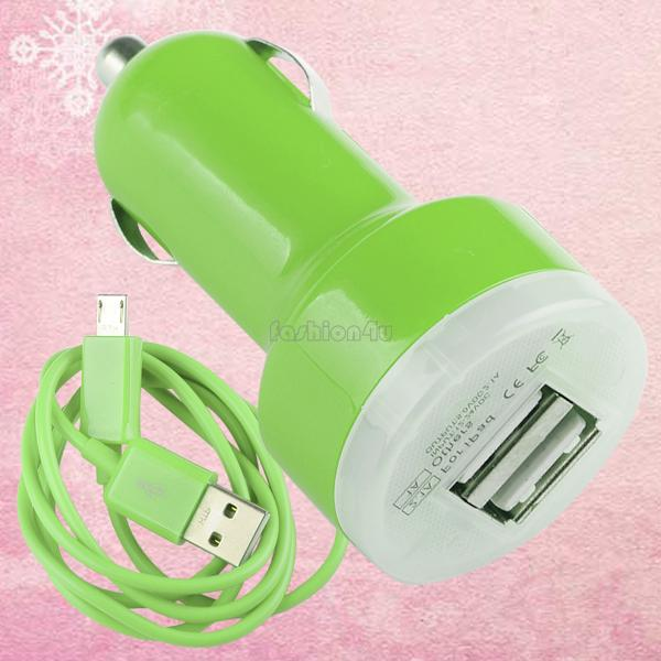 For-Samsung-Mobile-Phone-Dual-USB-Port-Car-Charger-Micro-USB-To-USB-Cable-Cord