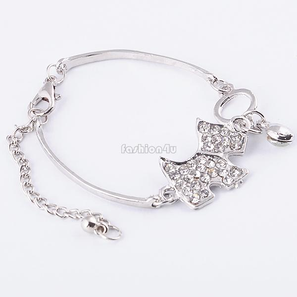 Cross Butterfly Heart Star Pendant Bangle Cute Dog Panda Bracelet Hand Chain