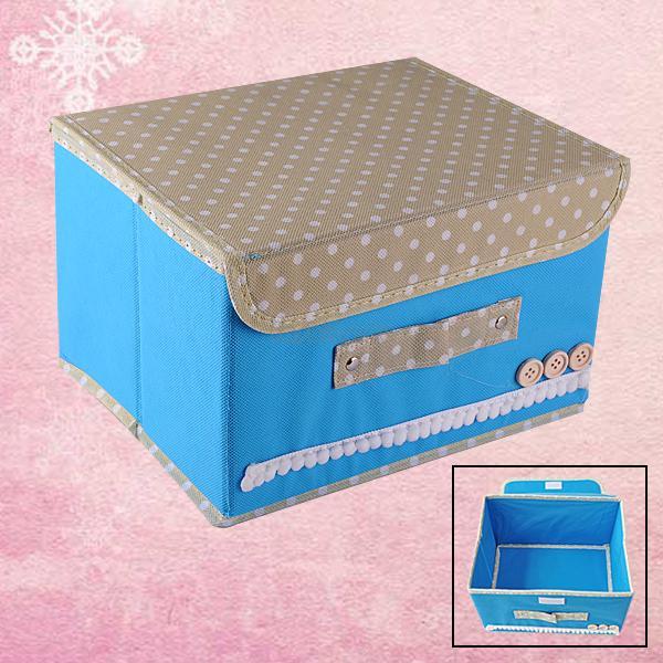 New Non Woven Fabric Folding Underwear Storage Box Bedroom: Clothes Sundries Storage Box Organizer Case Container Non