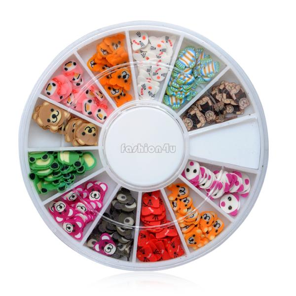 7 style colorful glitter stone nail art sticker stud rhinestones diy decoration