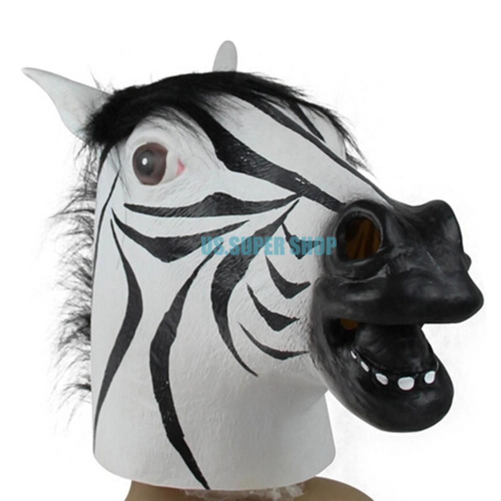 Creepy Horse Unicorn Zebra Wolf Head Cosplay Animals Halloween ...